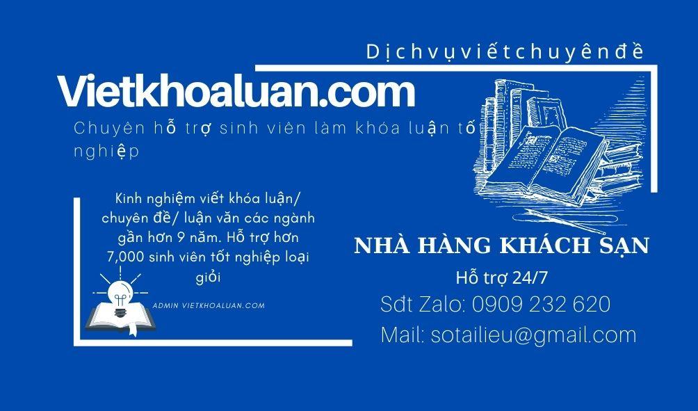 Vietkhoaluan.cViết khóa luận tốt nghiệp ngành Nhà hàng khách sạnom